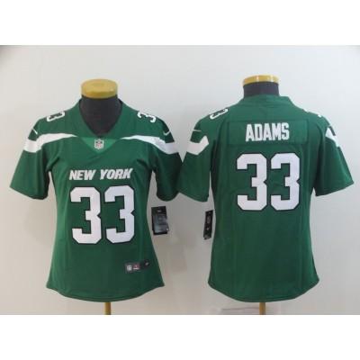 Nike Jets 33 Jamal Adams Green New 2019 Vapor Untouchable Limited Women Jersey