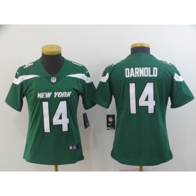 Nike Jets 14 Sam Darnold Green New 2019 Vapor Untouchable Limited Women Jersey
