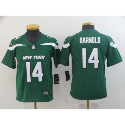 Nike Jets 14 Sam Darnold Green New 2019 Vapor Untouchable Limited Youth Jersey