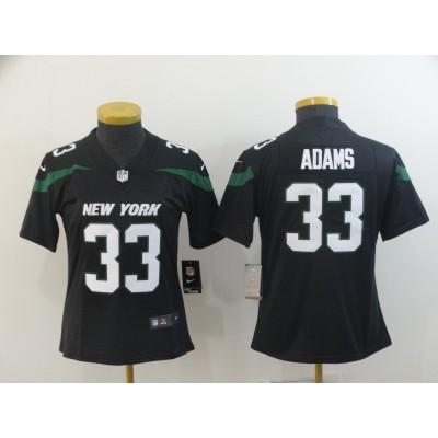 Nike Jets 33 Jamal Adams Black New 2019 Vapor Untouchable Limited Women Jersey