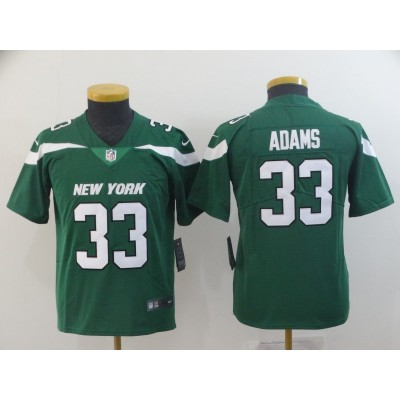 Nike Jets 33 Jamal Adams Green New 2019 Vapor Untouchable Limited Youth Jersey