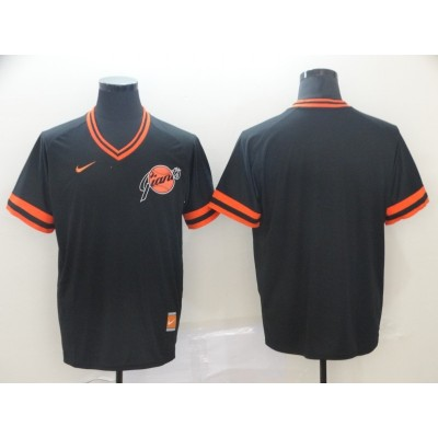 MLB Giants Blank Black Nike Cooperstown Collection Legend V-Neck Men Jersey