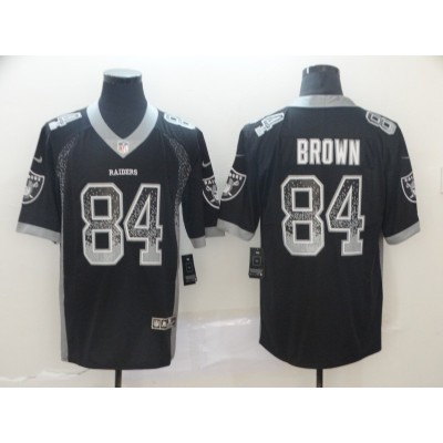 Nike Raiders 84 Antonio Brown Black Drift Fashion Vapor Limited Men Jersey