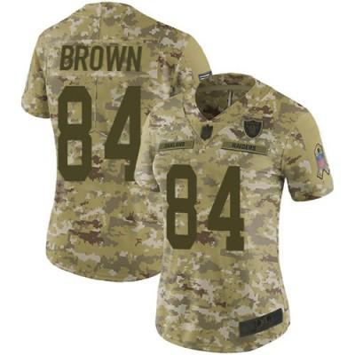 Nike Raiders 84 Antonio Brown 2018 Camo Salute to Service Limited Women Jersey