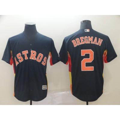 MLB Astros 2 Alex Bregman Navy Cool Base Men Jersey