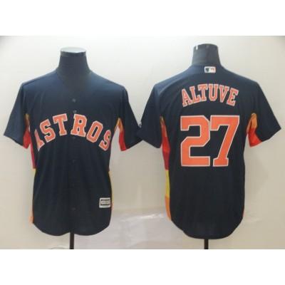 MLB Astros 27 Jose Altuve Navy New Cool Base Men Jersey