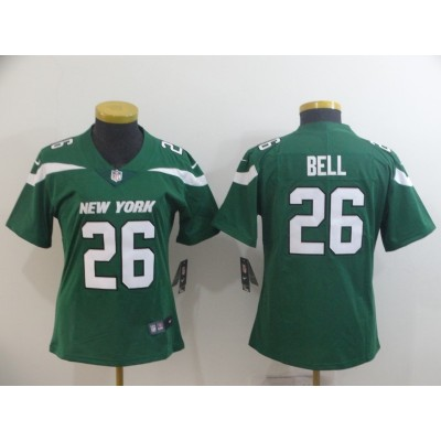Nike Jets 26 Le'Veon Bell Green New 2019 Vapor Untouchable Limited Women Jersey