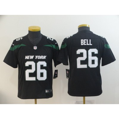 Nike Jets 26 Le'Veon Bell Black New 2019 Vapor Untouchable Limited Youth Jersey