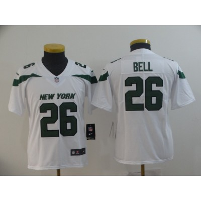 Nike Jets 26 Le'Veon Bell White New 2019 Vapor Untouchable Limited Youth Jersey