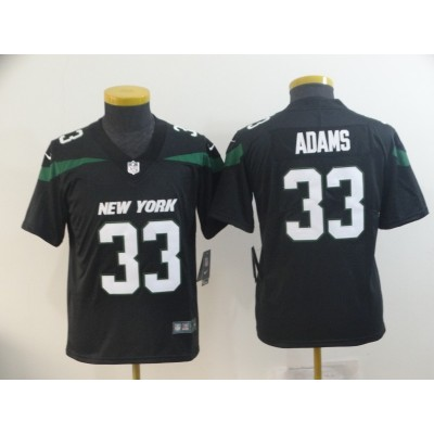 Nike Jets 33 Jamal Adams Black New 2019 Vapor Untouchable Limited Youth Jersey