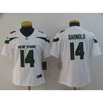 Nike Jets 14 Sam Darnold White New 2019 Vapor Untouchable Limited Women Jersey
