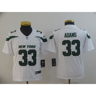 Nike Jets 33 Jamal Adams White New 2019 Vapor Untouchable Limited Youth Jersey