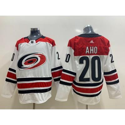 NHL Hurricanes 20 Sebastian Aho White Adidas Men Jersey