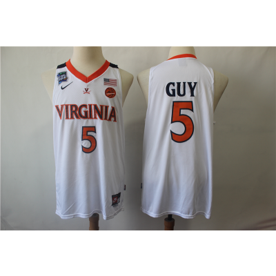NCAA Virginia Cavaliers 5 Kyle Guy College Basketball 2019 Final-Four White Men Jersey