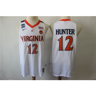 NCAA Virginia Cavaliers 12 De'Andre Hunter College Basketball 2019 Final-Four White Men Jersey