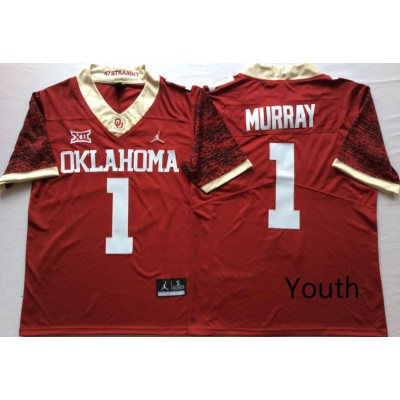 NCAA Oklahoma Sooners 1 Kyler Murray Red 47 Game Winning Streak College Football Youth Jersey