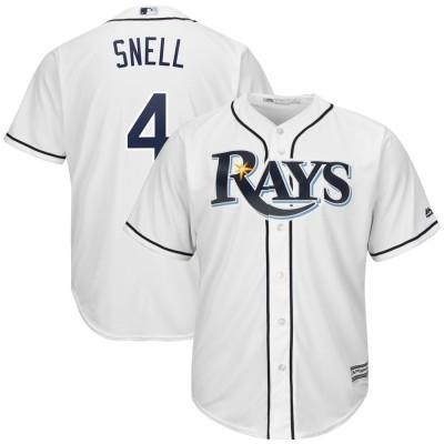 MLB Rays 4 Blake Snell White Cool Base Men Jersey