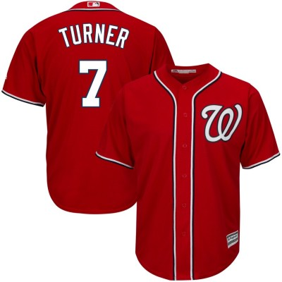 MLB Nationals 7 Trea Turner Red Cool Base Men Jersey