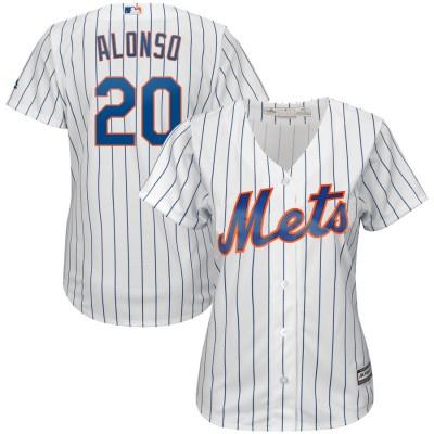 MLB Mets 20 Pete Alonso White Cool Base Women Jersey