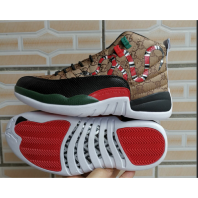 Air Jordan 12 Snake Camel Shoes