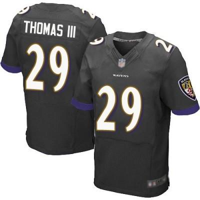 NFL Ravens 29 Earl Thomas III Black Elite Men Jersey