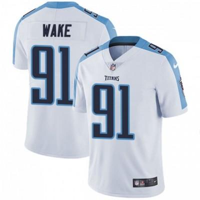 Nike Titans 91 Cameron Wake White Vapor Untouchable Limited Men Jersey