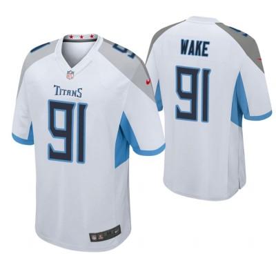 Nike Titans 91 Cameron Wake White Game Men Jersey