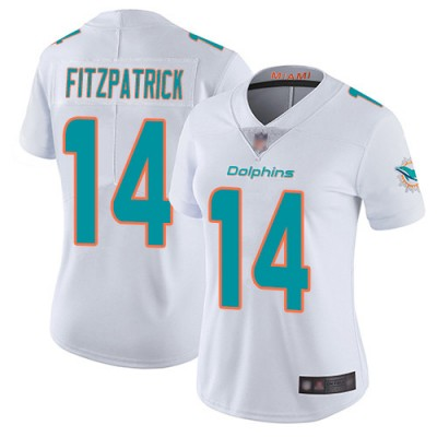 Nike Dolphins 14 Ryan Fitzpatrick White Vapor Untouchable Limited Women Jersey