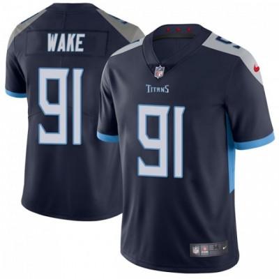 Nike Titans 91 Cameron Wake Navy Blue Vapor Untouchable Limited Men Jersey