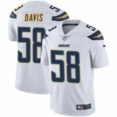 Nike Chargers 58 Thomas Davis White Vapor Untouchable Limited Men Jesrey