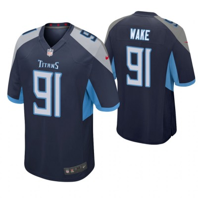 Nike Titans 91 Cameron Wake Navy Blue Game Men Jersey