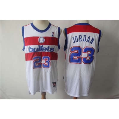 NCAA Washington Bullets 23 Michael Jordan Nike College Basketball Men Jersey