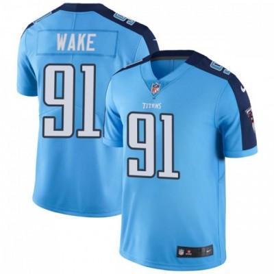 Nike Titans 91 Cameron Wake Light Blue Vapor Untouchable Limited Men Jersey