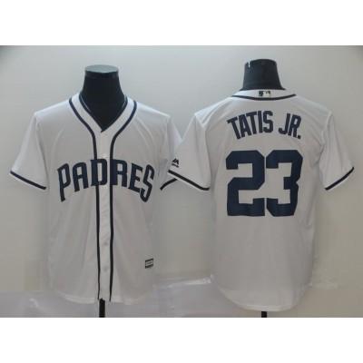MLB Padres 23 Fernando Tatis Jr. White Cool Base Men Jersey