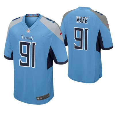 Nike Titans 91 Cameron Wake Light Blue Game Men Jersey