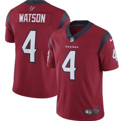 Nike Texans 4 Deshaun Watson Red 2019 Vapor Untouchable Limited Women Jersey