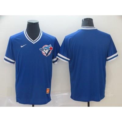 MLB Blue Jays Blank Royal Nike Cooperstown Collection Legend V-Neck Men Jersey