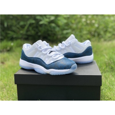 "Air Jordan 11 Low ""Blue Snakeskin Custom"" Shoes"