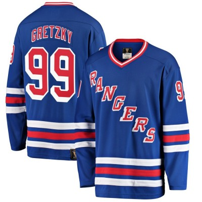 NHL Rangers 99 Wayne Gretzky Blue Men Jersey