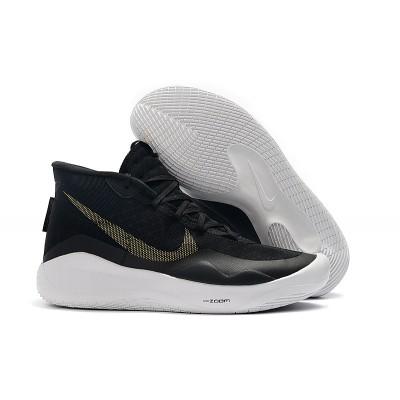 Nike KD 12 Black Metallic Gold White Shoes