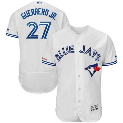 MLB Blue Jays 27 Vladimir Guerrero Jr. White 150th Patch Flexbase Men Jersey