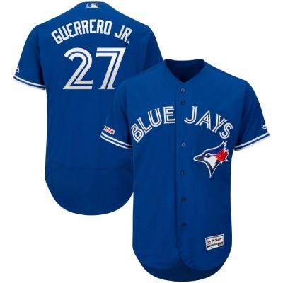 MLB Blue Jays 27 Vladimir Guerrero Jr. Royal 150th Patch Flexbase Men Jersey