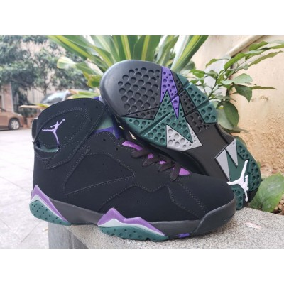 Air Jordan 7 Ray Allen Black Purple Shoes