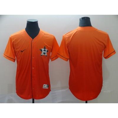 MLB Astros Blank Orange Drift Fashion Men Jersey