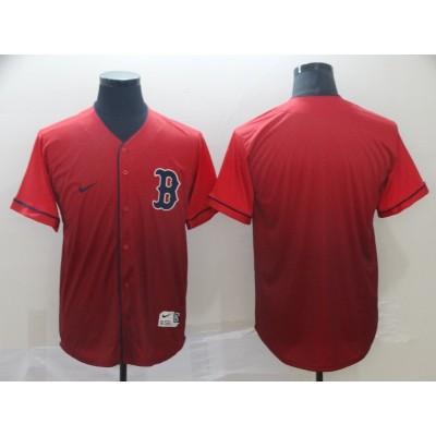 MLB Red Sox Blank Red Drift Fashion Men Jersey