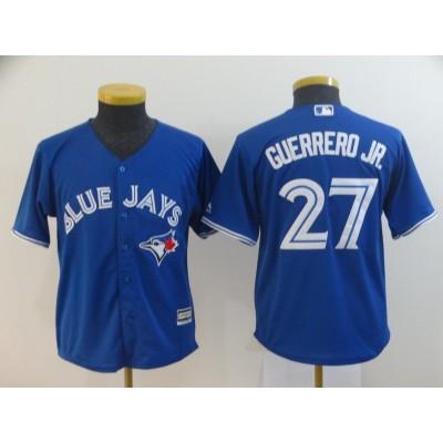 MLB Blue Jays 27 Vladimir Guerrero Jr. Royal Cool Base Youth Jersey