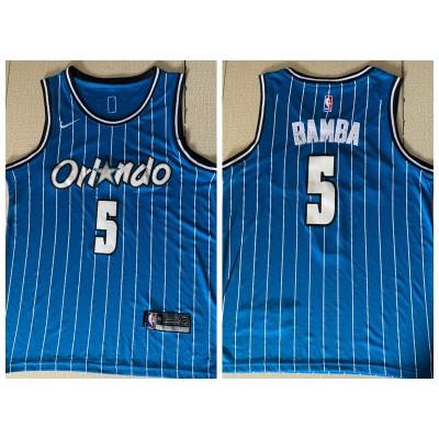 NBA Magic 5 Mohamed Bamba Light Blue Nike Men Jersey