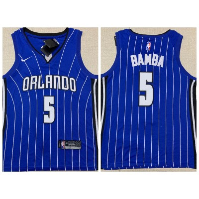 NBA Magic 5 Mohamed Bamba Blue Nike Men Jersey