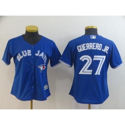 MLB Blue Jays 27 Vladimir Guerrero Jr. Royal Cool Base Women Jersey