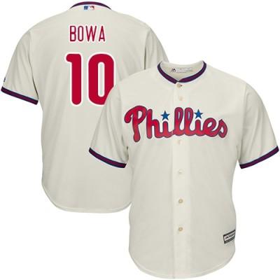MLB Phillies 10 Larry Bowa Cream Cool Base Men Jersey
